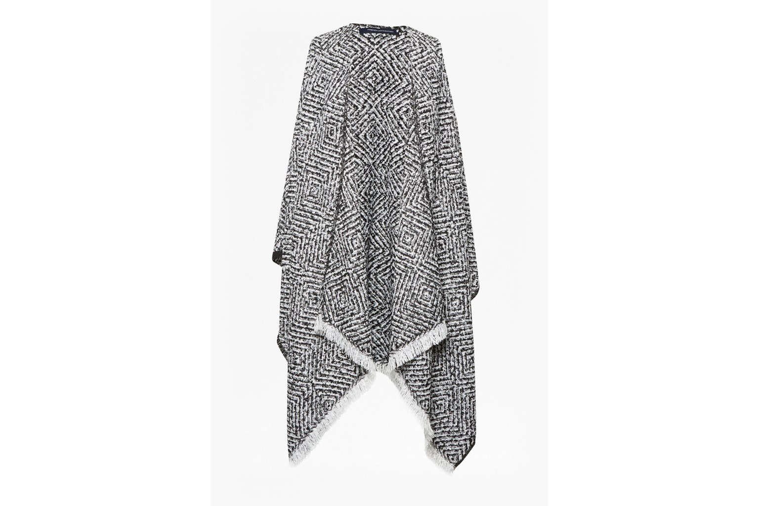 Two Tone Knitted Poncho