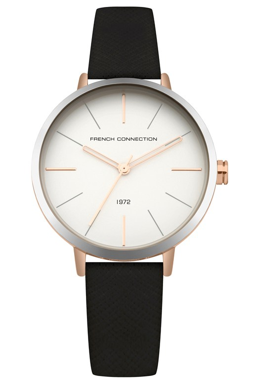saffiano leather strap watch