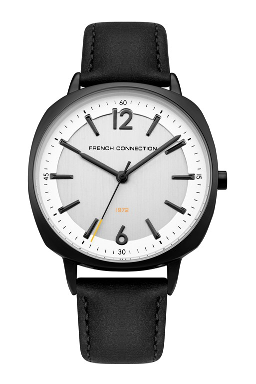 Complete the Look WHITE DIAL BLACK LEATHER STRAP