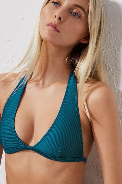 03871c5b6 Ottoman Halter Neck Bikini Top   One Piece Swimsuits   French Connection Usa