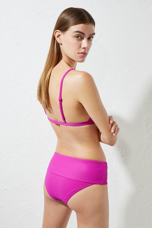 core texture folded bikini briefs