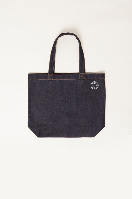 mens denim shopper