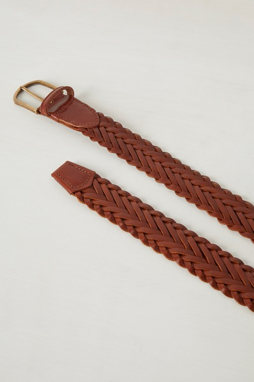renato leather weave belt