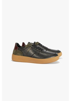 Aaron Leather Lace Up Trainer