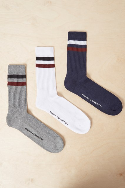 3 Pack Sport Stripe Socks