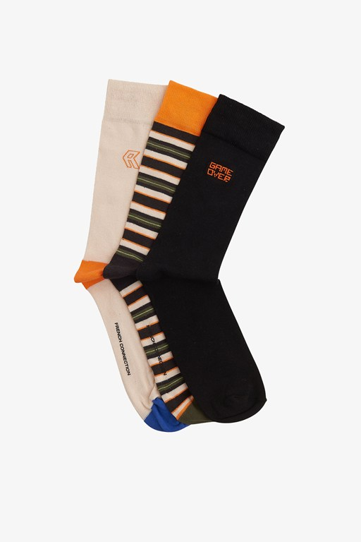3 pack tangerine orange socks