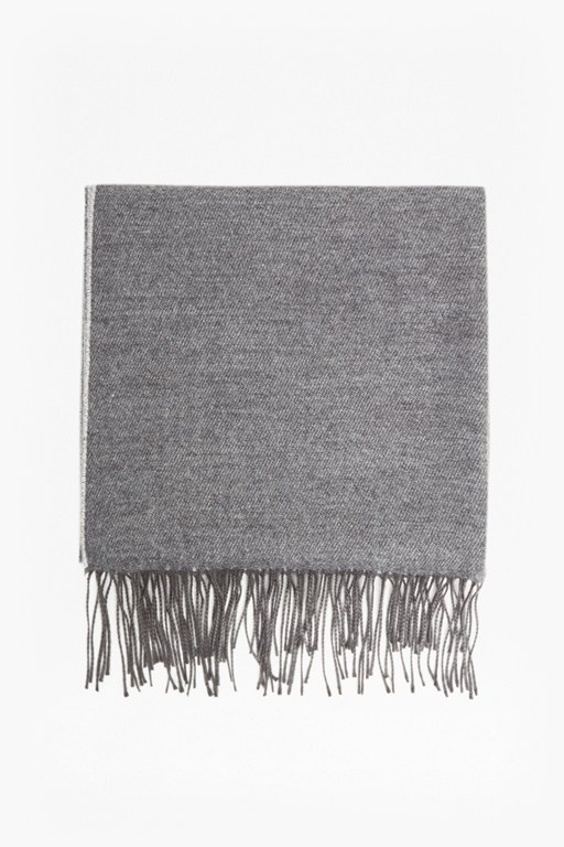 wool two colour scarf