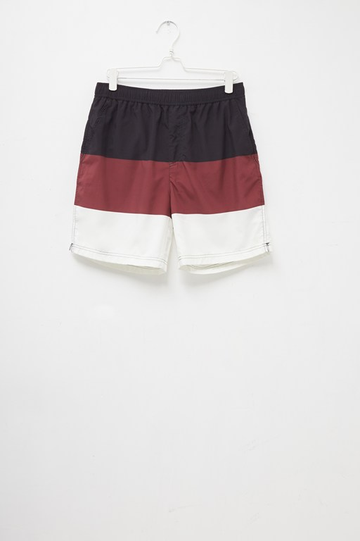 block color swim shorts